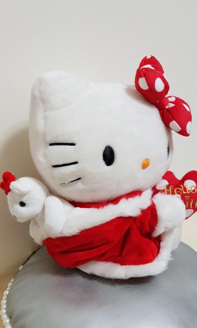 Hello Kitty 聖誕裝玩偶 (約28公分)