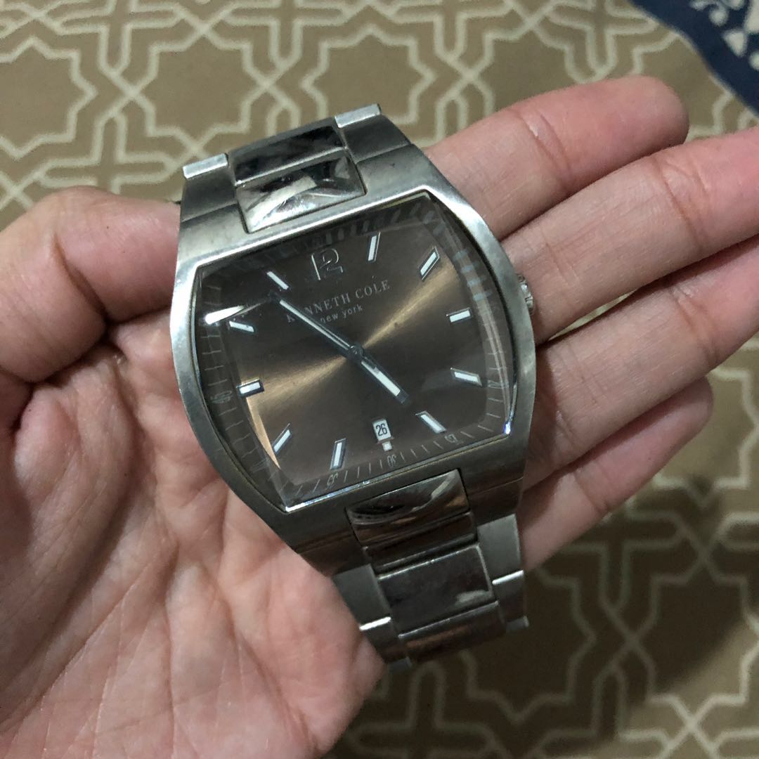 0ce920f11c2 photo photo ... Kenneth Cole New York Men s KC3981 Chronograph Silver and  Black Dial Watch