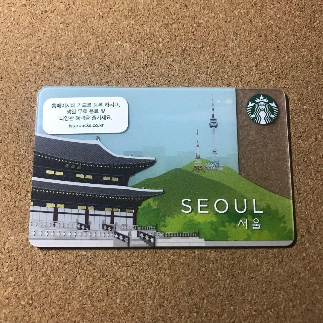 Starbucks Card Seoul Korea with sleeve