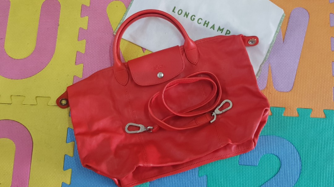 3bb1f36140a7 LONGCHAMP Le Pliage Cuir Medium Size