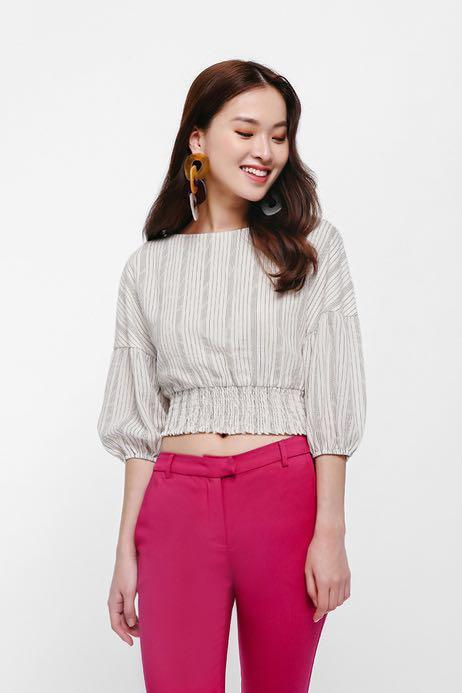 Love Bonito Balloon Sleeve Crop Top