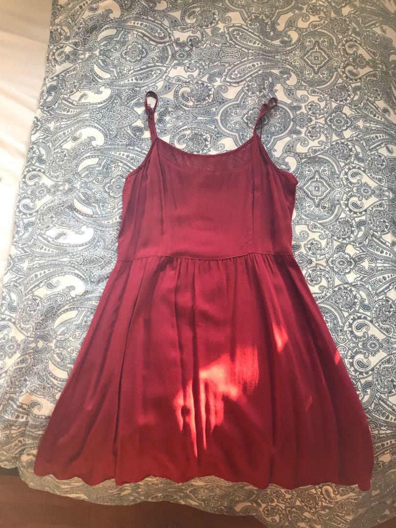 Maroon Mini Dress from Cotton On