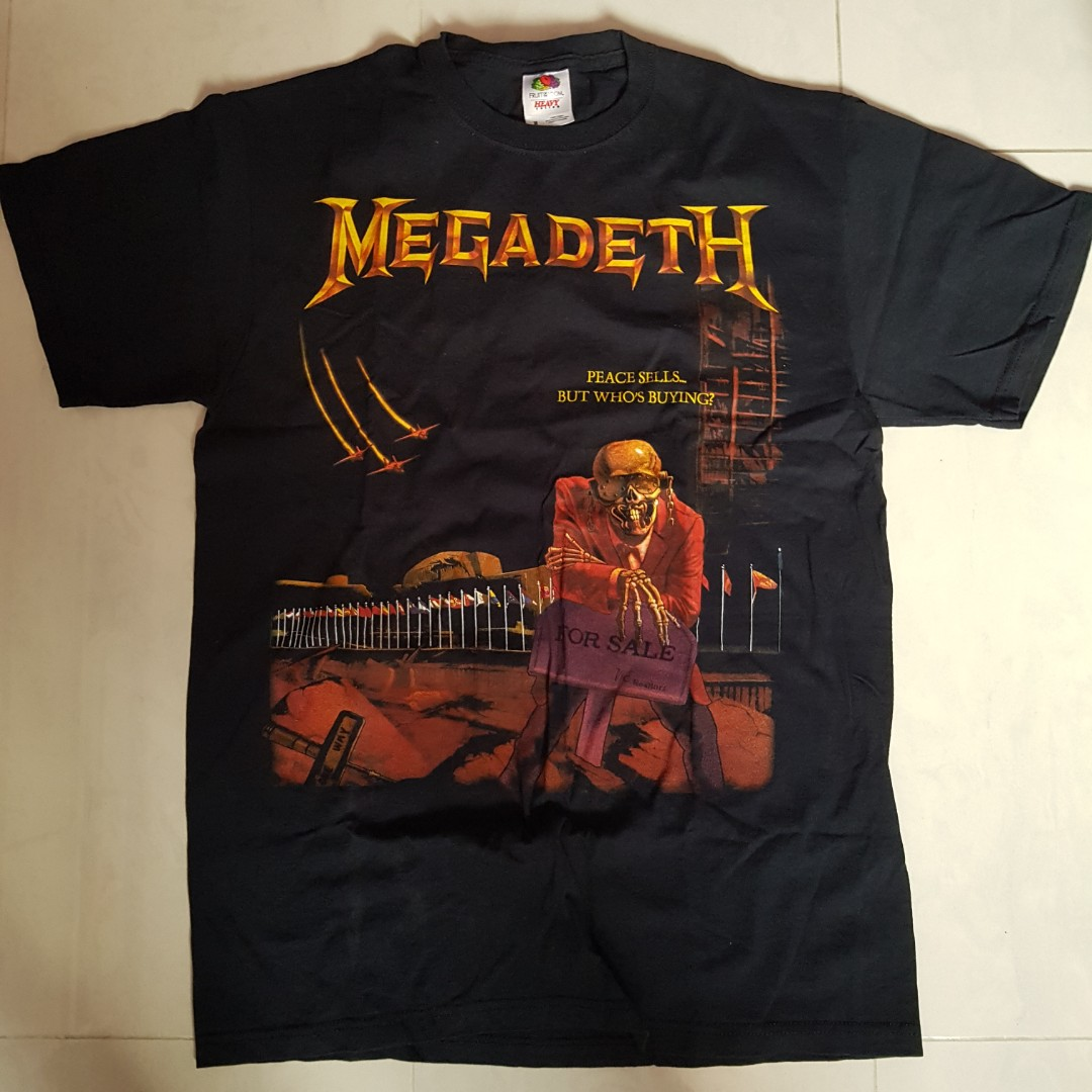 5d6d083e1e Megadeth Peace Sells official t-shirt vintage band metal