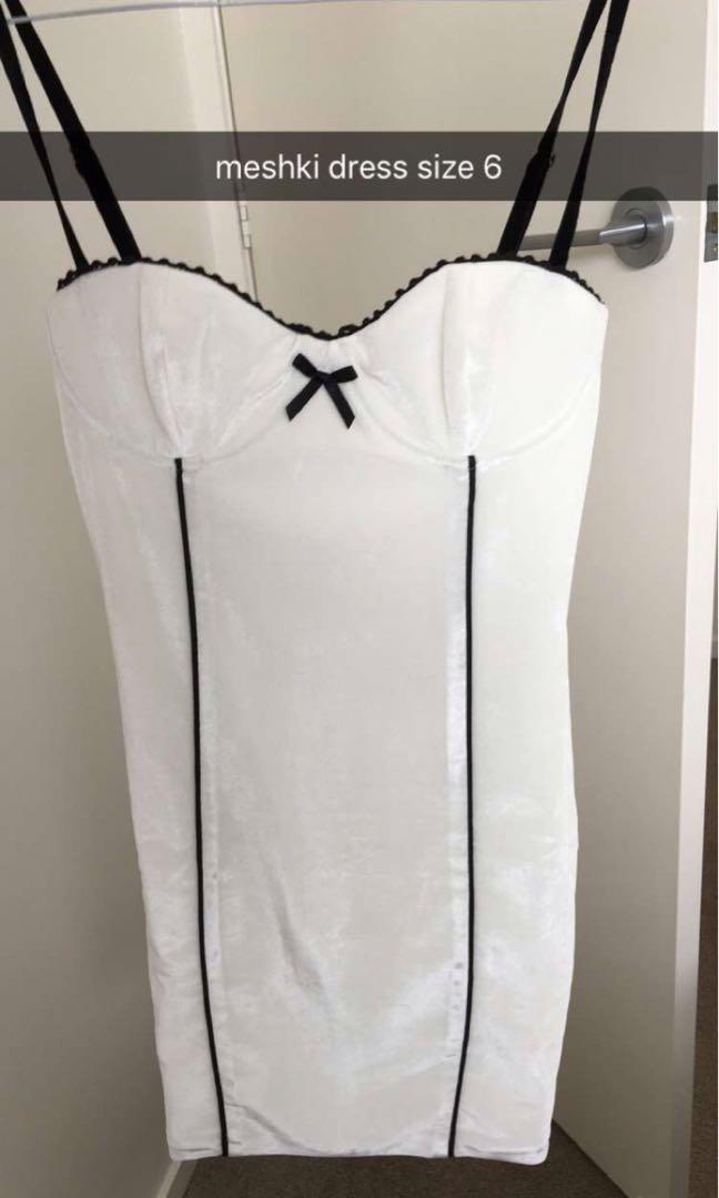 Meshki White Bodycon Mini Dress - Charlotte Bow