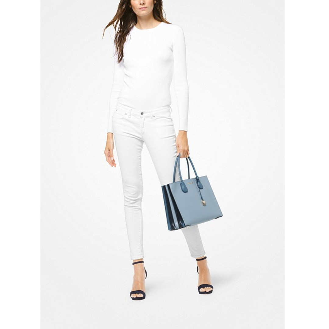 19e1b518cb2d4f Michael Kors Mercer Large Pebbled Leather Accordion Tote, Women's Fashion,  Bags & Wallets, Handbags on Carousell