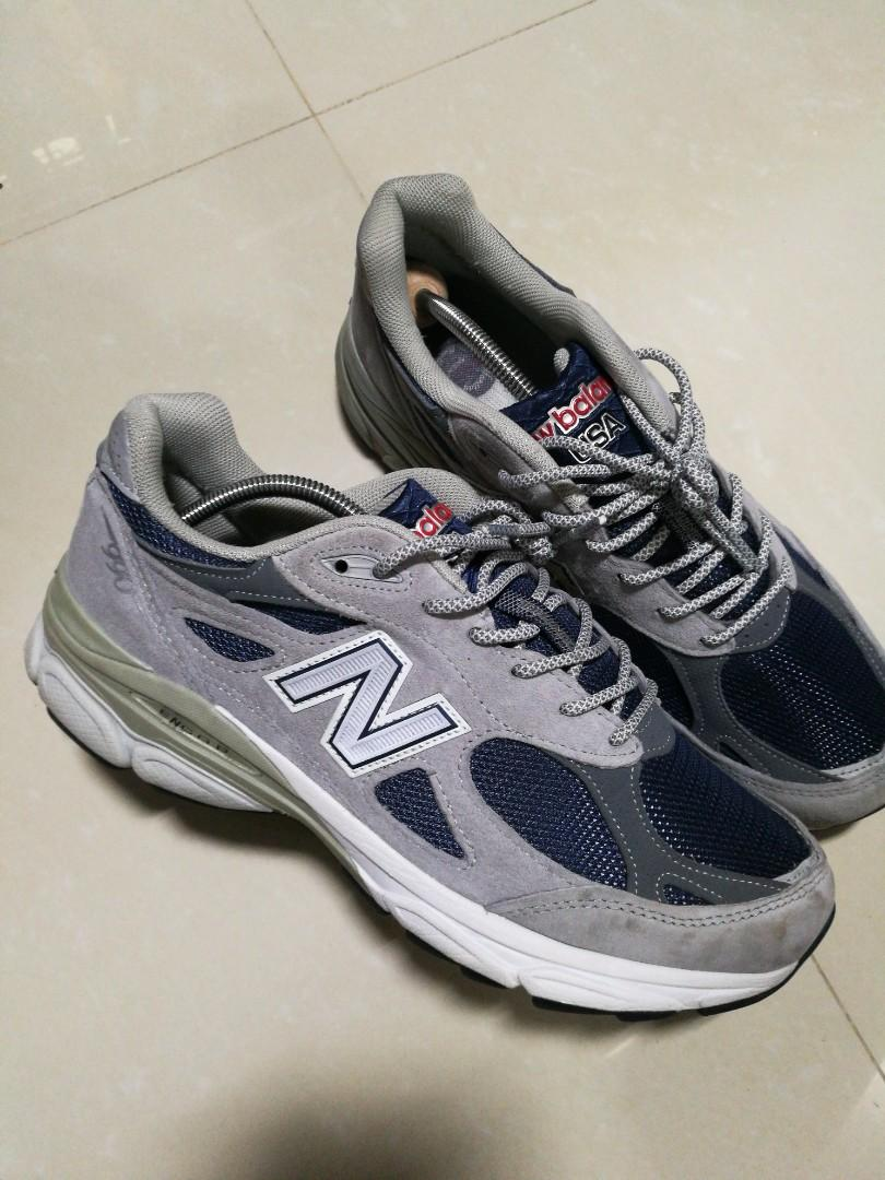 buy popular 6b3d6 fe7da New Balance 990v3 Navy OG, Men's Fashion, Footwear, Sneakers ...