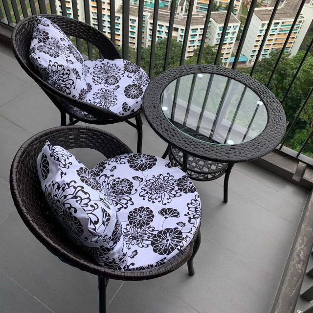 Swell New Dark Brown Balcony Chair Outdoor Furniture Furniture Pabps2019 Chair Design Images Pabps2019Com