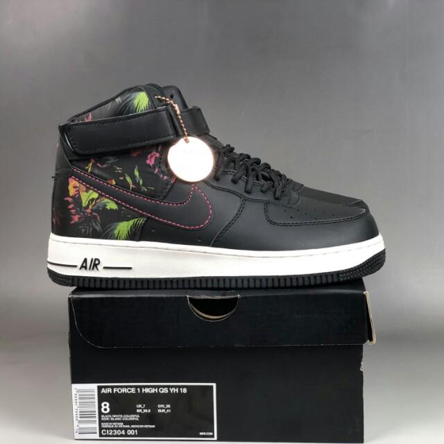"more photos 48b31 4a909 Nike Air Force 1 07 High ""Black Floral"", Men s Fashion, Men s ..."