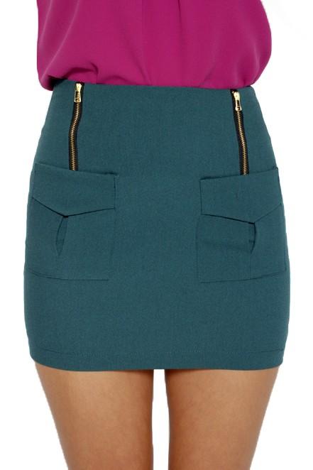 693e7d40e6d1 Pockety Cute Mini Skirt in Forest, Women's Fashion, Clothes, Dresses ...