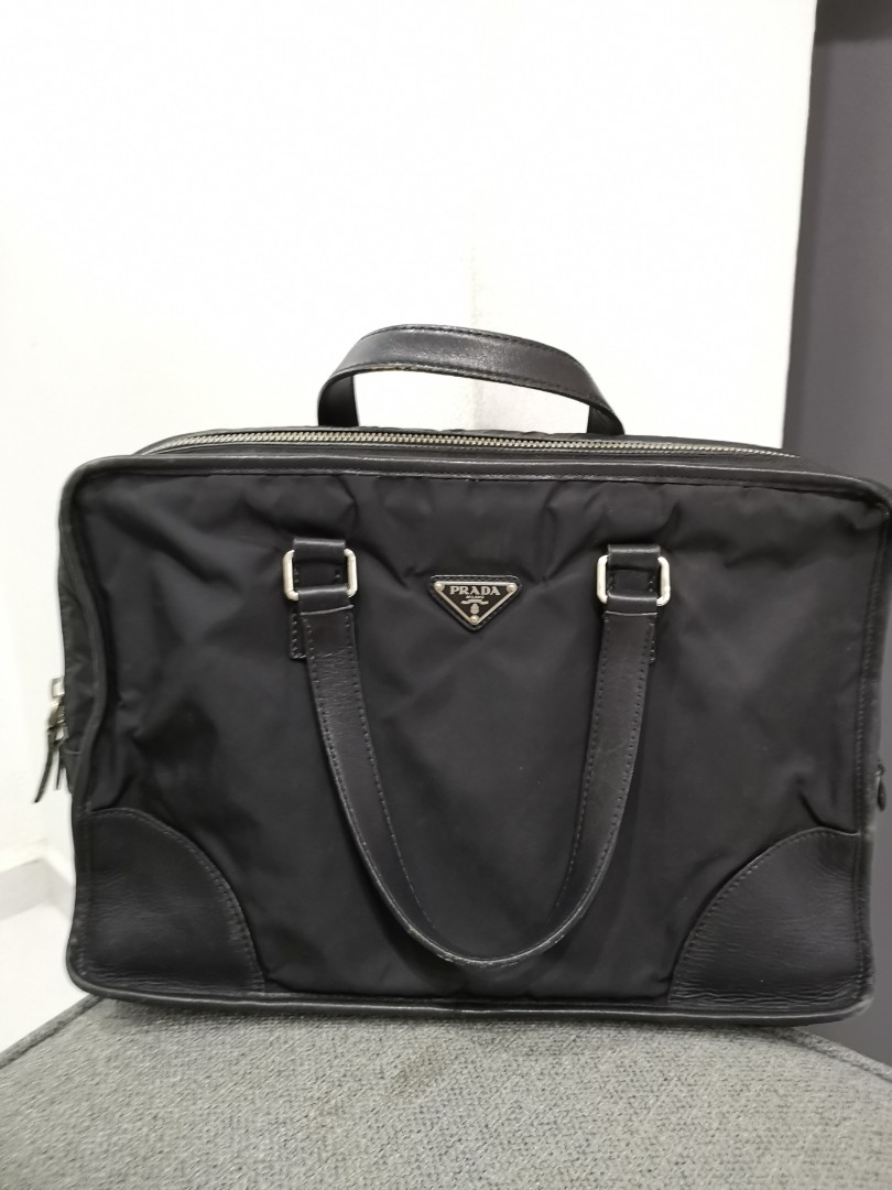 560b98179366 Prada Document Bag, Luxury, Bags & Wallets, Briefcases on Carousell