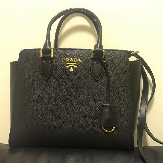5aad61b804898e Prada Saffiano 2 Way Hand / Shoulder Bag, Luxury, Bags & Wallets ...