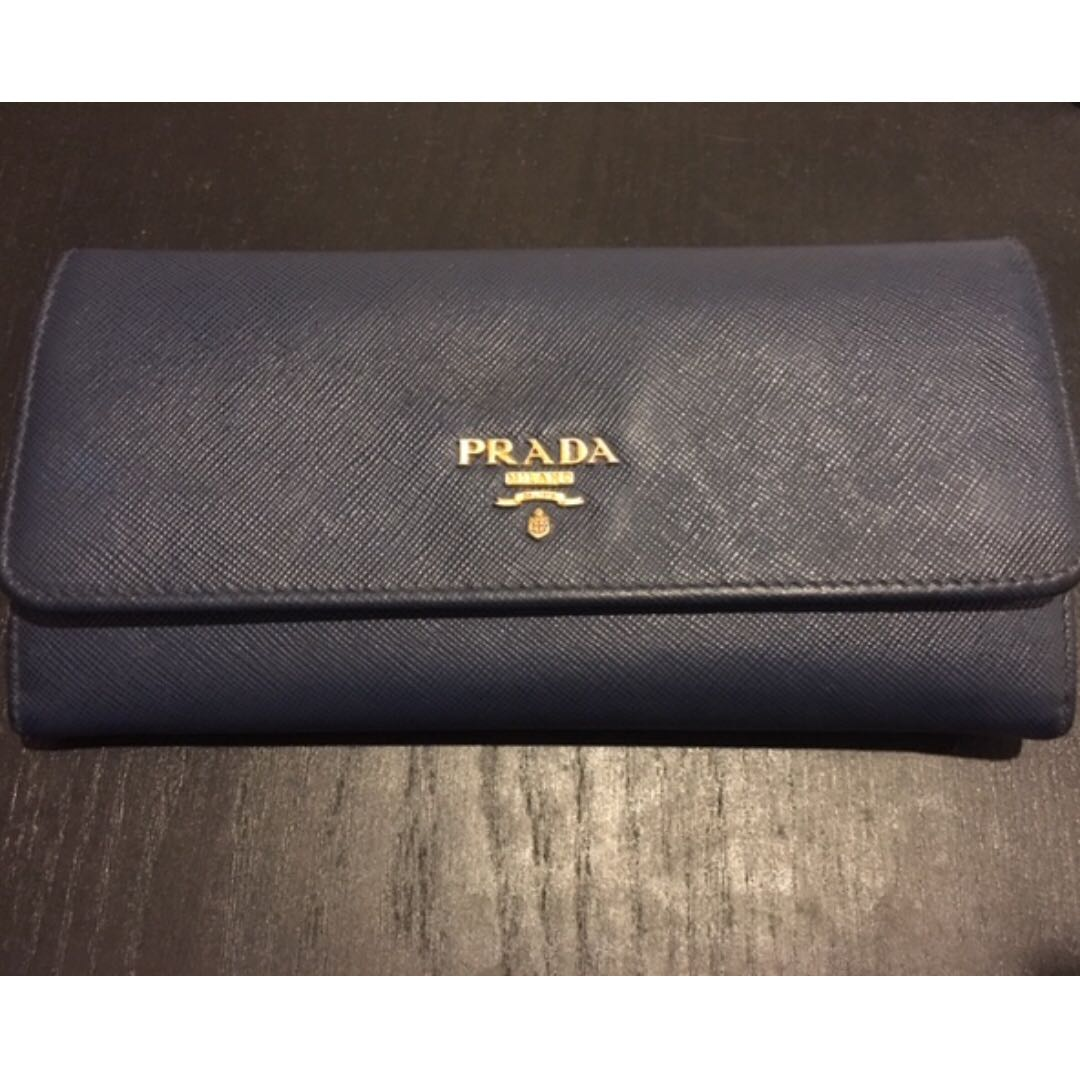 f67599a30715 Prada Saffiano Long/Continental Wallet, Luxury, Bags & Wallets ...