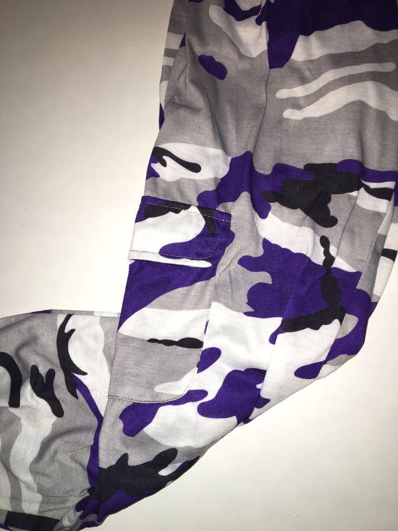 Purple Camo Cargo sweats