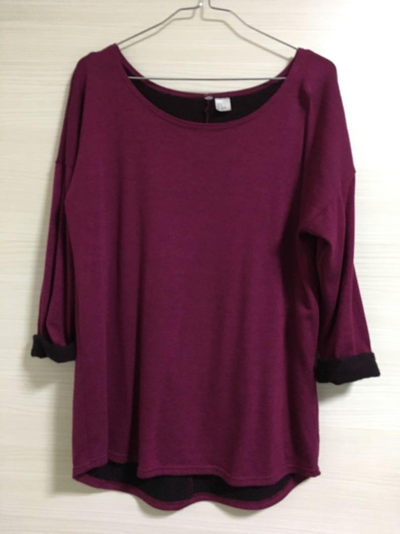 Purple Knit Top