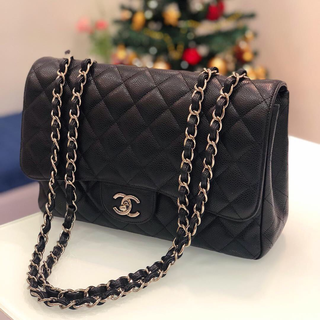 29c4a018cc29 ❌SOLD!❌ Superb Deal! Chanel Jumbo SF in Black Caviar SHW, Luxury ...