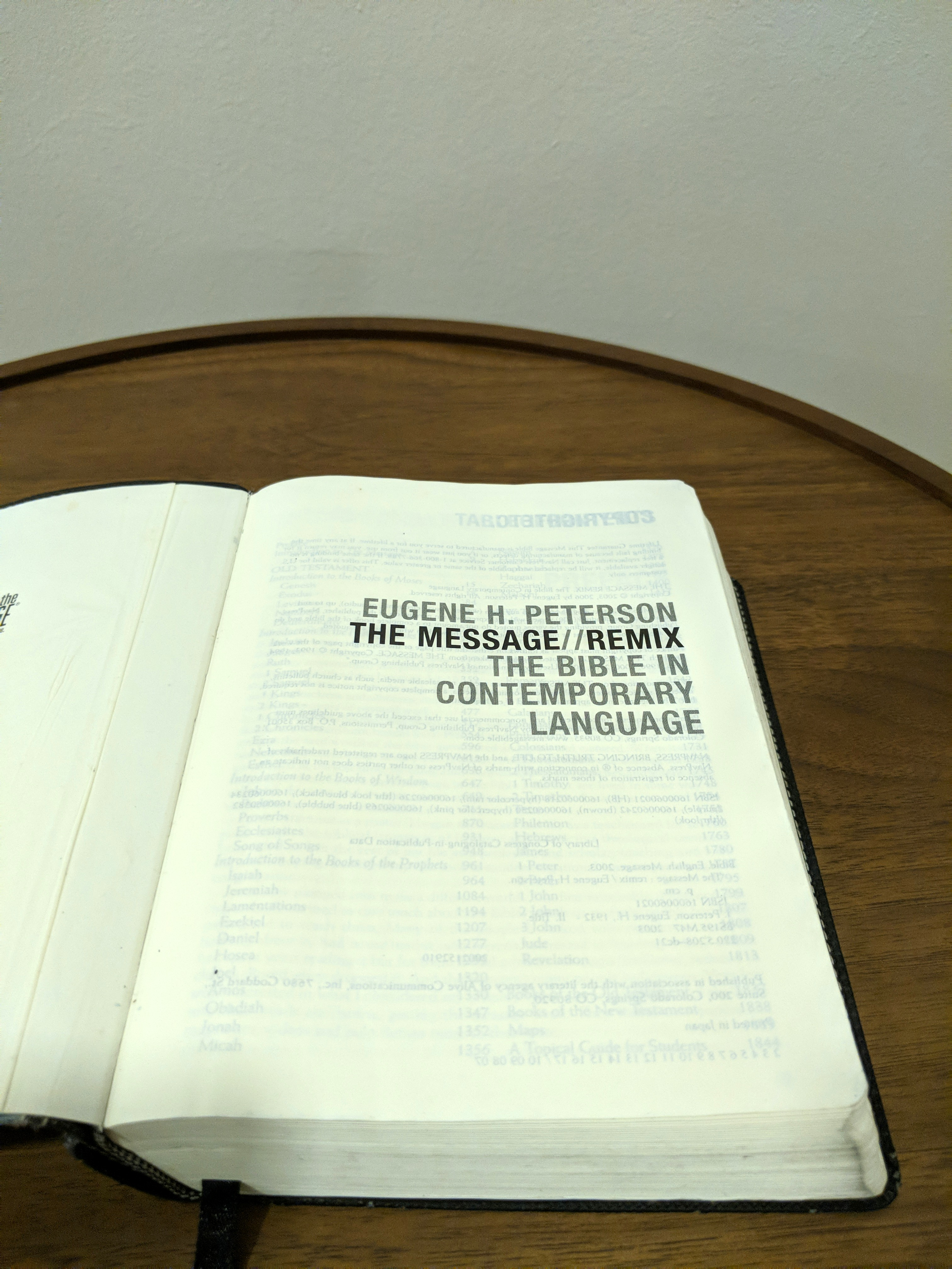 The Message Bible by Eugene H  Peterson