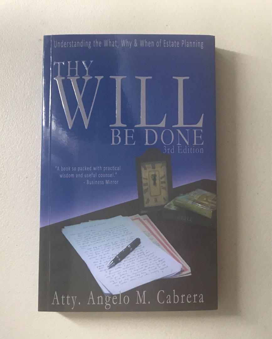 Thy Will Be Done (Estate Planning) - Angeli Cabrera