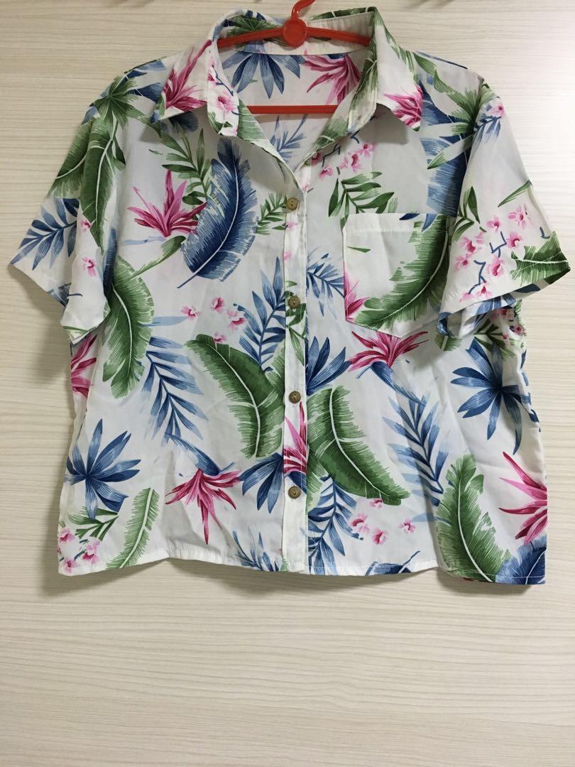 Tropical Floral Printed Shirt