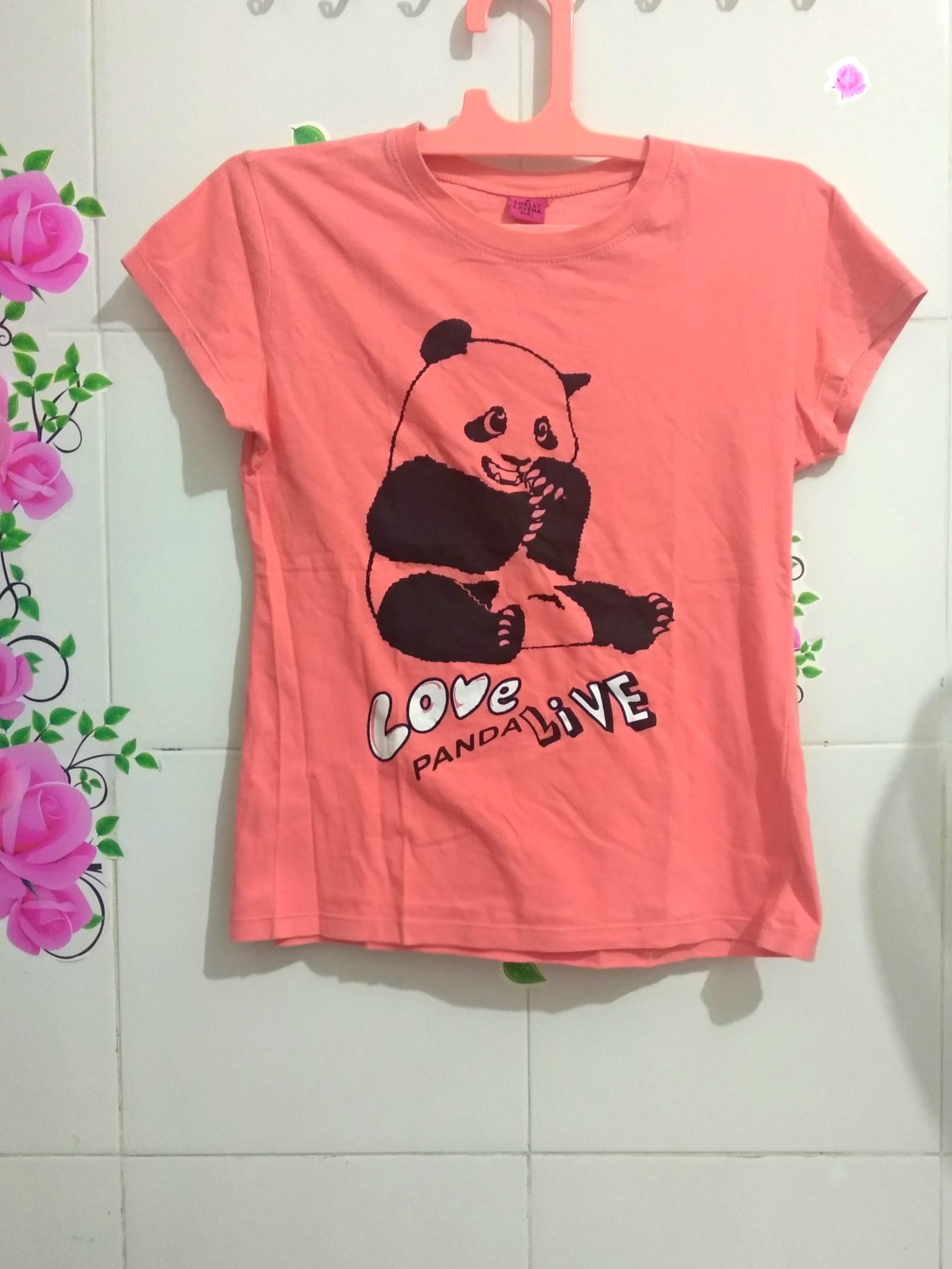 02a07f7a Tumblr tee panda / kaos panda, Women's Fashion, Women's Clothes ...