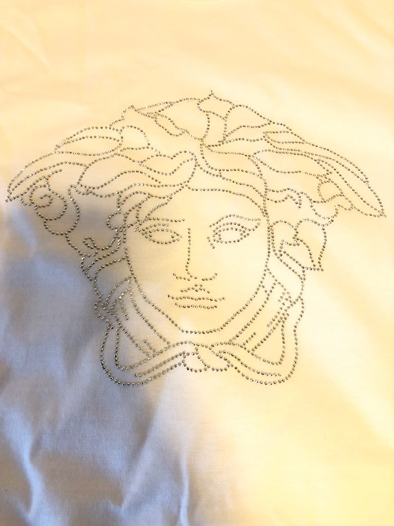 653670fd2ef1 Versace Swarovski Crystal Medusa T Shirt. Size M., Men's Fashion ...