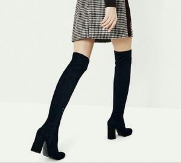 Zara Stretch Over the Knee Boots -size 6.5