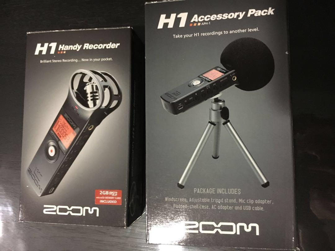 Zoom H1 Handy Recorder Includes 2gb Micro Sd Memory Card