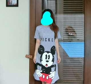 Dress mickey grey