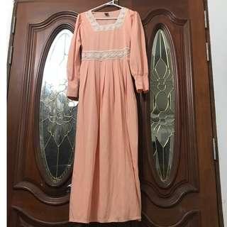 Cotton dress square neckline