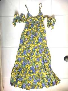 🚚 Yellow Floral Maxi Dress (PRICE REDUCED)