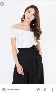 MGP Caryle Ruffle Top in White