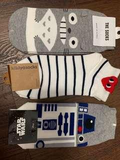 R2 D2 socks, Totoro socks & commes de garcon socks