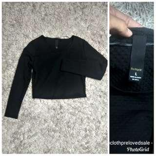 Factory blouse size L embos tebal (blouse factory / blouse import / sweater blouse / long sleeve blouse / blouse kece / nlouse branded )