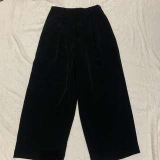 UNIQLO Drape Ankle Length Pants Black