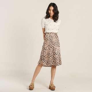 Pre-order Yuri Leopard Satin Skirt