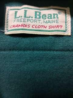 LL Bean Made in USA Chamois Shirt