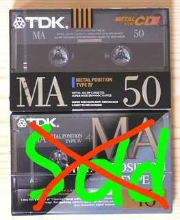 TDK MA 50(mins) 第四類 空白金屬磁帶 (type4)