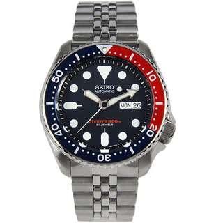 🚚 BNIB Seiko Automatic Jubilee Bracelet SKX009K2 SKX009K SKX009 Men Watch
