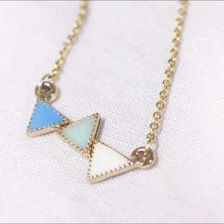 新品:三角形 項鍊 可愛造型 情人節