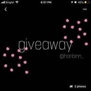 @hanbinn_ giveaway repost