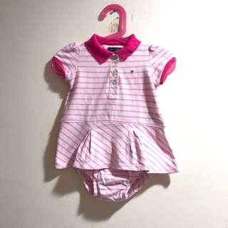 Tommy Hilfiger striped pink baby dress