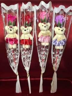 Soap Rose 🌹 & Teddy Bear 🧸