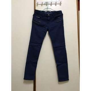 🚚 拉鍊裝飾牛仔褲