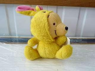 BNWT Winnie the Pooh in Rabbit Bunny Suit Costume Plush Stuffed Toy