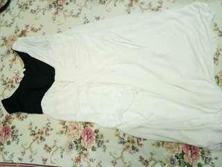 CIEL black and white mini dress/ top #bersihbersih