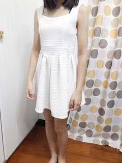 🚚 Air space米白色無袖短洋裝