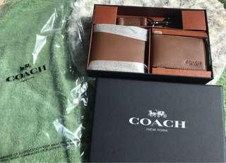 Coach Box Set - Wallet, Card Holder and Key Holder