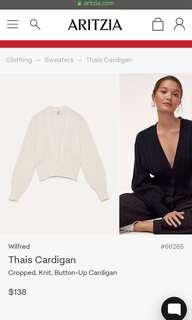 ISO: aritzia thais cardigan in oak or tan(camel?) eize xxs!!