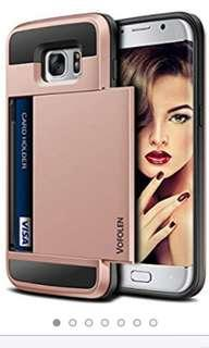 Vofolen Samsung Galaxy S7 Edge Card Slot Case - Rose Gold