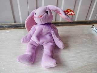 BNWT TY Beanie Floppity Rabbit Bunny 1996 Plush Stuffed Toy