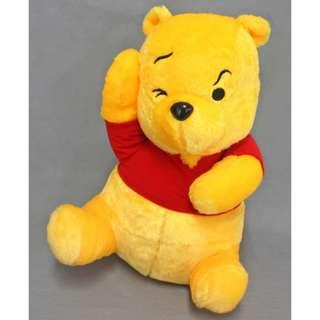 🚚 Authentic Japan 35cm Pooh Mega Jumbo Troubled Pose Plush Doll